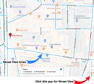 Google Maps Orange areas