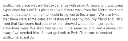 AirBnB Review 1