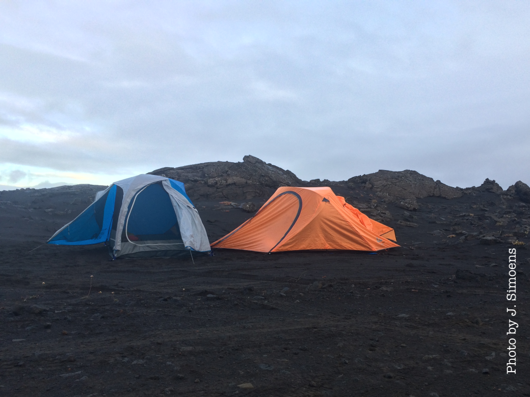 Camping in a Volcanic Desert