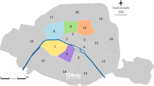 Paris Arrondissements 6th-10th